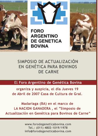Simposio de Actualización de Genética para bovinos de carne. 19 de abril 2007